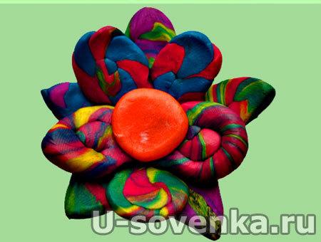 Поделка из пластилина - Цветик Разноцветик