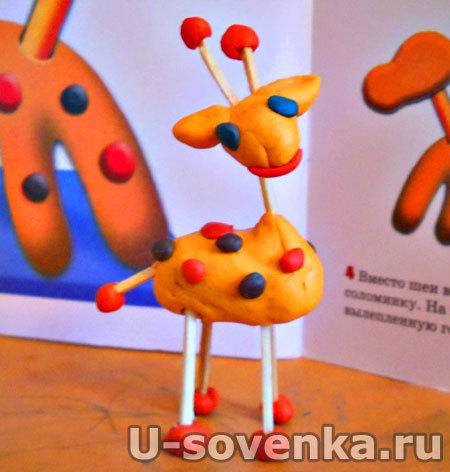 Поделка (Лепка) из пластилина - Жираф